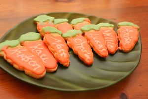 carrot cookies personalized