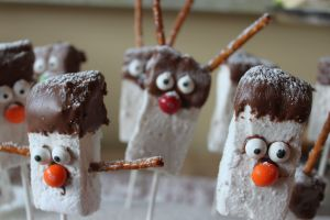 snowmen and reindeer