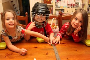 matty in hockey helmut